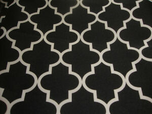 Outdoor-Upholstery-Moroccan-black-Waterproof-Canvas-fabric-60-034-wide-25-yards
