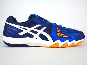 Details about Mens Asics Gel Blade 5 R506Y Blue Lace Up Squash Badminton Shoes Trainers