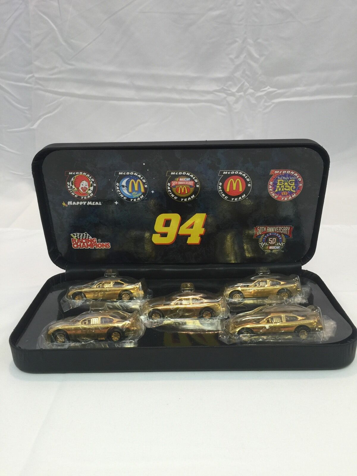 Racing Champions 50th Anniversary McDonalds Bill Elliot 24K oro Plated Diecast