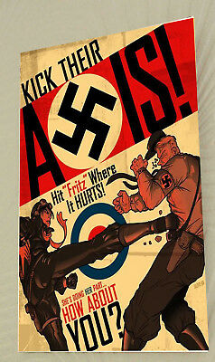 World War Two Canada British Empire Propaganda  Poster A3 Print