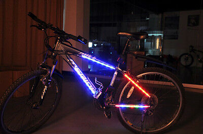 Bicycle Safety Cycling Decorative 14 LED Strip Spoke lights Article 4 Mode Green