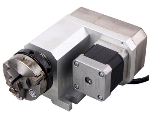 Router Rotational Rotary Axis A-Axis 4th-Axis 50MM Chuck CNC Engraving Machine