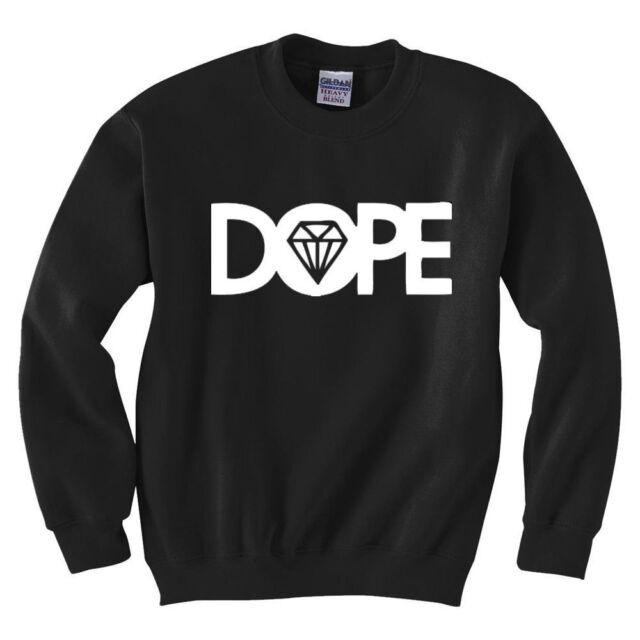 DOPE DIAMOND BLACK UNISEX PULLOVER SWEATSHIRT TOP JUMPER /DRAKE MICKEY