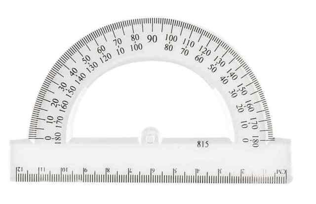 957145 Rapporteur 180 degrés en plastique 120 mm