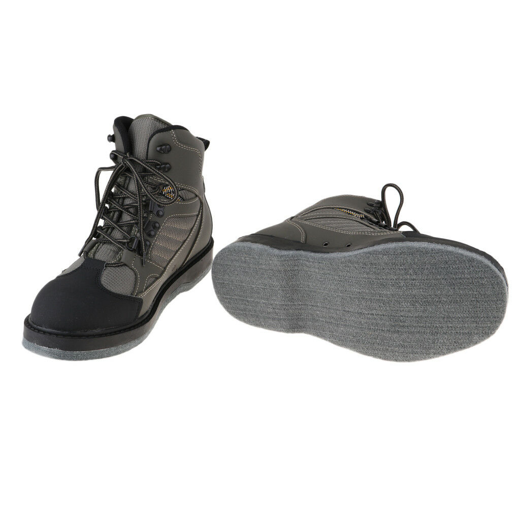Breathable Fly Fishing Wading chaussures, Wader chaussures, 10mm Felt Sole Wader bottes