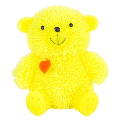8cm Light-Up Flashing Squidgy Puffer Teddy Bear Heart 7cm Unicorn Sensory Toy 3+