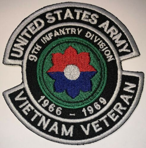 US Army 9th Infantry Division 1966-1969 Vietnam Veteran Patch Hook /& Sew New B72