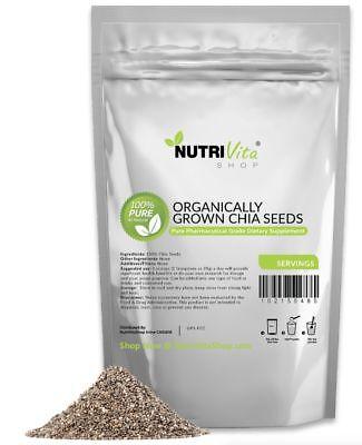 3X 1LB (3LB) 100% PURE BLACK CHIA SEEDS GLUTAN-FREE nonGMO GROWN ORGANIC
