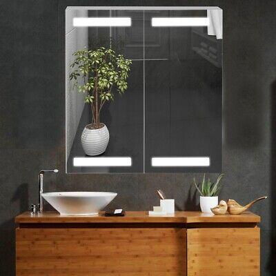 Modern Bathroom Mirror Cabinet Led Illuminated Wall Mounted Storage Cupboard Ebay