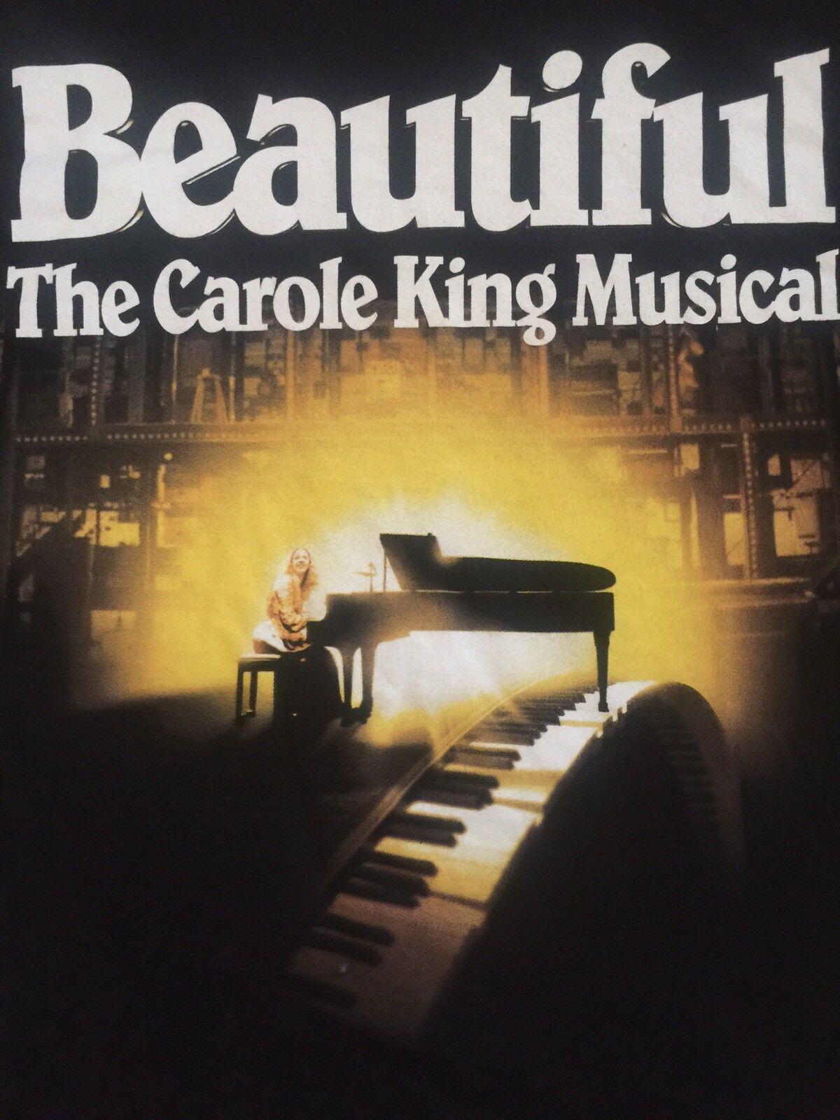 Beautiful Carol King Musical 30 USA States Berry Mann Cynthia Weil Tour Tshirt M