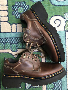 dr martens england women's us 6 brown oiled leather