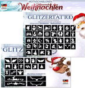 50 Glitzertattoos Weihnachten / Glitzer Tattoo Schablonen für Weihnachtsfeier - Engelskirchen, Deutschland - 50 Glitzertattoos Weihnachten / Glitzer Tattoo Schablonen für Weihnachtsfeier - Engelskirchen, Deutschland