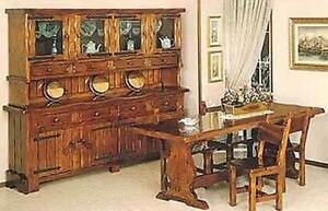 Credenza Rustica In Legno : Credenza cristalliera rustica in legno massello vari colori