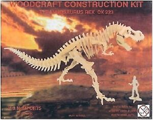 Tyrannosaurus Rex: Woodcraft Costruzione in Legno Modello 3D Kit T-Rex modello CX223  </span>