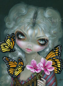 Jasmine-Becket-Griffith-art-print-SIGNED-pop-flower-fairy-Attracting-Butterflies