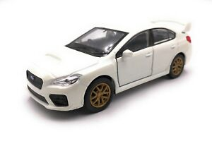 Coche-a-Escala-Subaru-Wrx-Sti-Deportivo-Blanco-1-3-4-39-con-Licencia