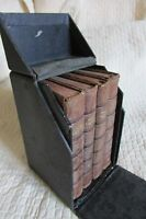 COLLECTION ANTIQUE FRENCH LEATHER BOUND VESPER BOOKS SPRING SUMMER AUTUMN WINTER