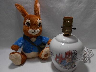 Vintage Wedgwood Beatrix Potter Peter, Wedgwood Peter Rabbit Lamp