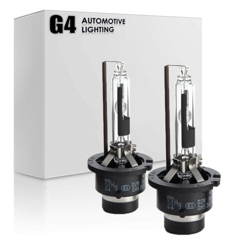 G4 AUTOMOTIVE 2x D2R HID Bulbs AC 35W OEM Xenon Headlight Replacement All Color