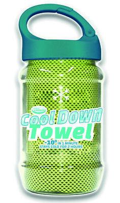 4 x Cool Down Towel WUNSCHFARBE Kühltuch Sommerhitze Fieber Schmerz Sonnenbrand