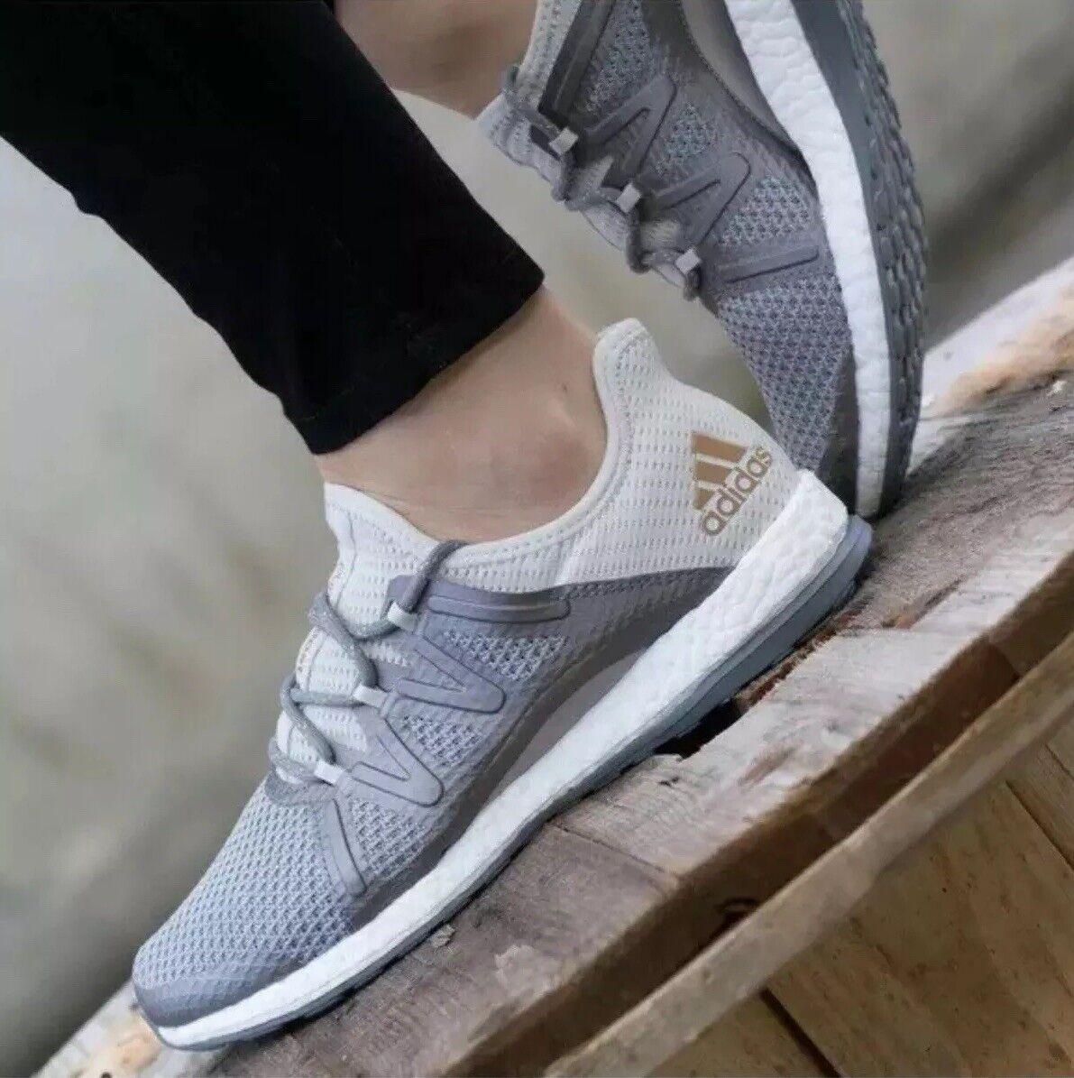 Adidas kvinnor Purepoost Xpose springaning skor grå    Tactile guld BA8271  autentisk kvalitet
