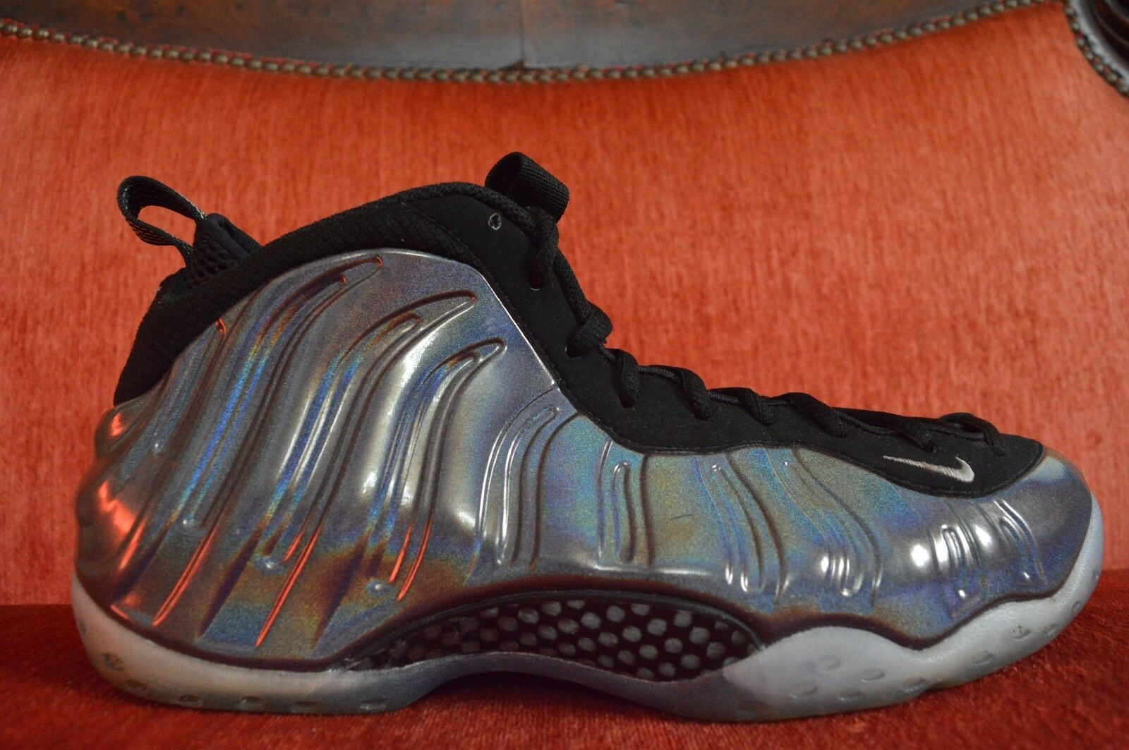 9+/10 NIKE AIR FOAMPOSITE ONE MULTI COLOR-SILVER HOLOGRAM 314996-900 Comfortable Great discount