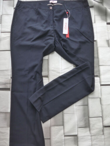 Sheego Class Stoffhose Hose Gr 073 46-58 Blau Marine Ton