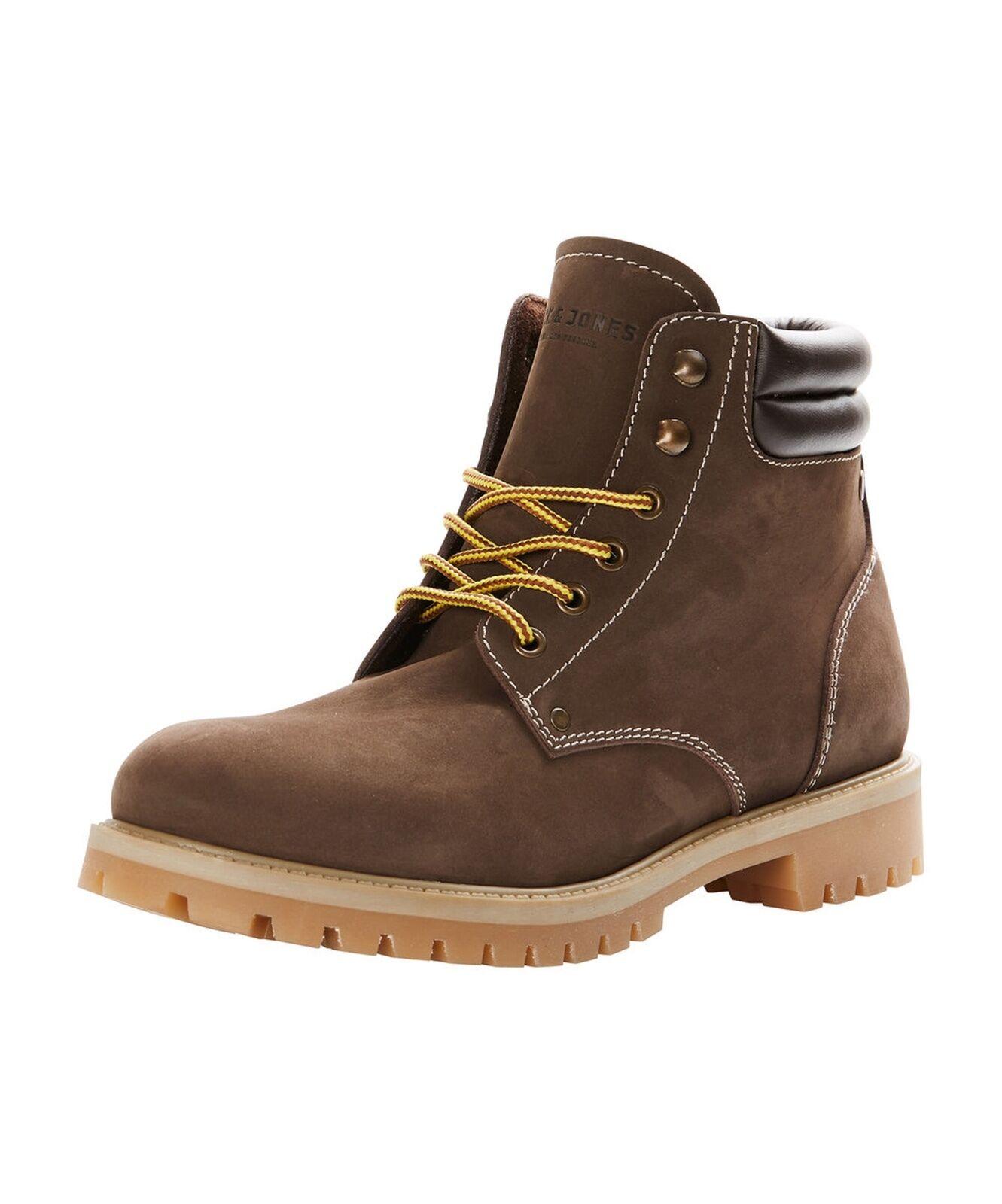 JACK & JONES Nubuck Stoke Leather botas High Top Zapatos Zapatos Zapatos Java Beige Biker botas 75a002