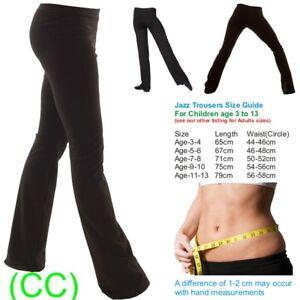 Ladies-Girls-Boys-Men-Dance-Cotton-Spandex-Jazz-Pants-Trousers-CC