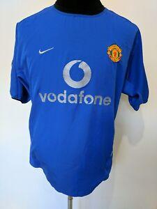 best service 83208 3f47e Details about 2002 2003 Manchester United Man Utd UCL away Scholes 18  football shirt jersey XL