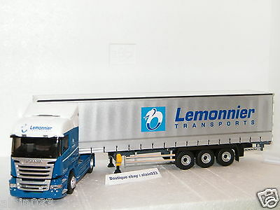 SCANIA STREAMLINE HIGHLINE TAUTLINER TRANSPORTS LEMONNIER ELIGOR 1//43 Ref 115488