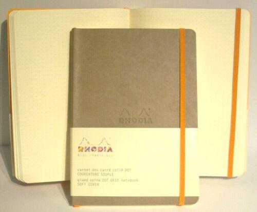 Heft flexibel  neue Farben Kladde Rhodia Notizbuch Kunstleder A5 dotted 160 S