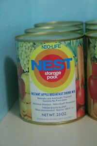 Vintage-1970s-Neo-Life-NEST-Instant-Apple-Breakfast-Drink-Mix-Can-Full-Unopened
