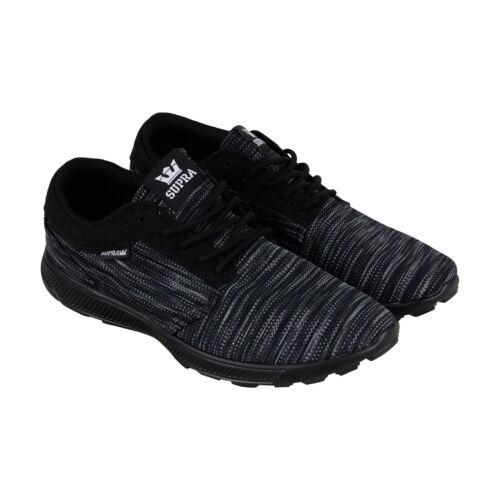 Supra Hammer Run 08128-985-M Mens Black Canvas Low Top Athletic Surf Skate Shoes