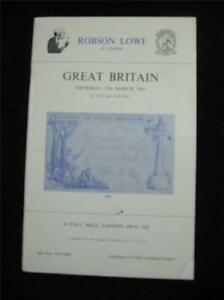 CHRISTIES-ROBSON-LOWE-AUCTION-CATALOGUE-1981-GREAT-BRITAIN-with-1840-1d-BLACK