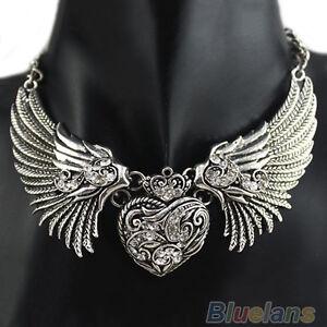 ITS-Hot-Crystal-Rhinestone-Turquoise-Angel-Wings-Collar-Chain-Women-Dresses-Nec