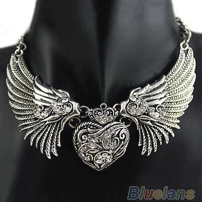 RHINESTONE ANGEL WINGS COLLAR CHAIN ETHNIC STYLE WOMEN DRESSES NECKLACE B69K