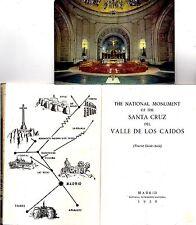Vintage - SANTA CRUZ DEL VALLE DE LOS CAIDOS 1959 Tourist Guide Book + Postcard