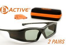 SAMSUNG-Compatible 3ACTIVE® 3D Glasses. Rechargeable. TWIN-PACK
