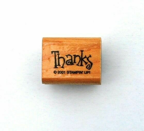 Rubber Stamp Frames Thank You Small Gift Tag Card Word Darice 2011 New Wood Mount Craft Rubber Stamp