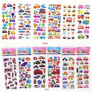 3D-kids-Paper-Crafts-Traffic-study-Sticker-Lot-Of-12-Kids-Amazed-PARTY-Gift
