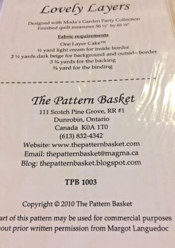 """/""""LOVELY LAYERS/"""" Quilt Pattern-The Pattern Basket /& /""""PATRIOTIC SUNBONNET SUE/""""free"""