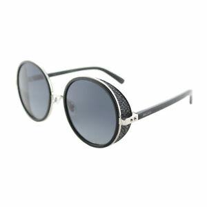 7d5e2a9b0fb Jimmy Choo JC Andie N B1A Palladium Black Round Sunglasses Grey ...