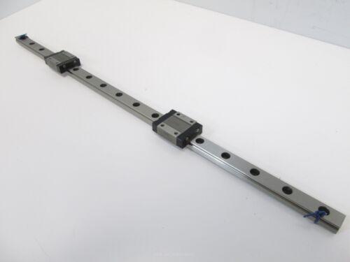 "16-5//8/"" L x 12mm W x 8mm H IKO LWL12B Linear Rail with 2 Carriages"