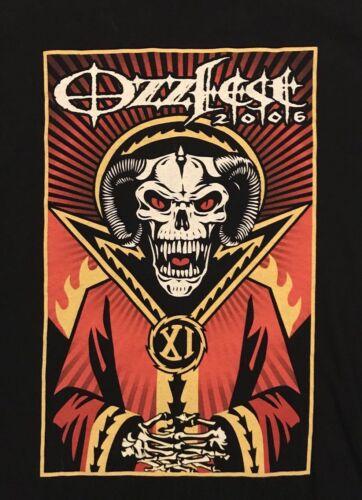 2006 Ozzfest Black Concert Tour T Shirt Large