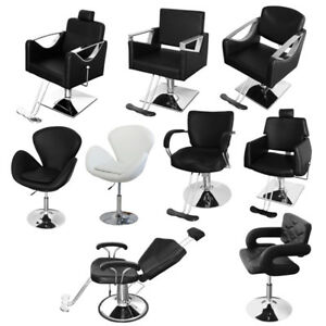 Details about Adjustable Reclining PU Leather & Steel Barber Salon Chair Shampoo Hairdressing