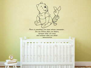 Image is loading Winnie-the-Pooh-Wall-Decal-Quote-Vinyl-Sticker-  sc 1 st  eBay & Winnie the Pooh Wall Decal Quote Vinyl Sticker Nursery Baby Room ...