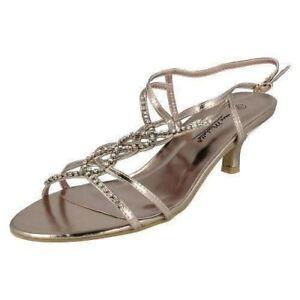 Anne-Michelle-L3R879-Ladies-Champagne-Metallic-Strappy-Shoes-R7B