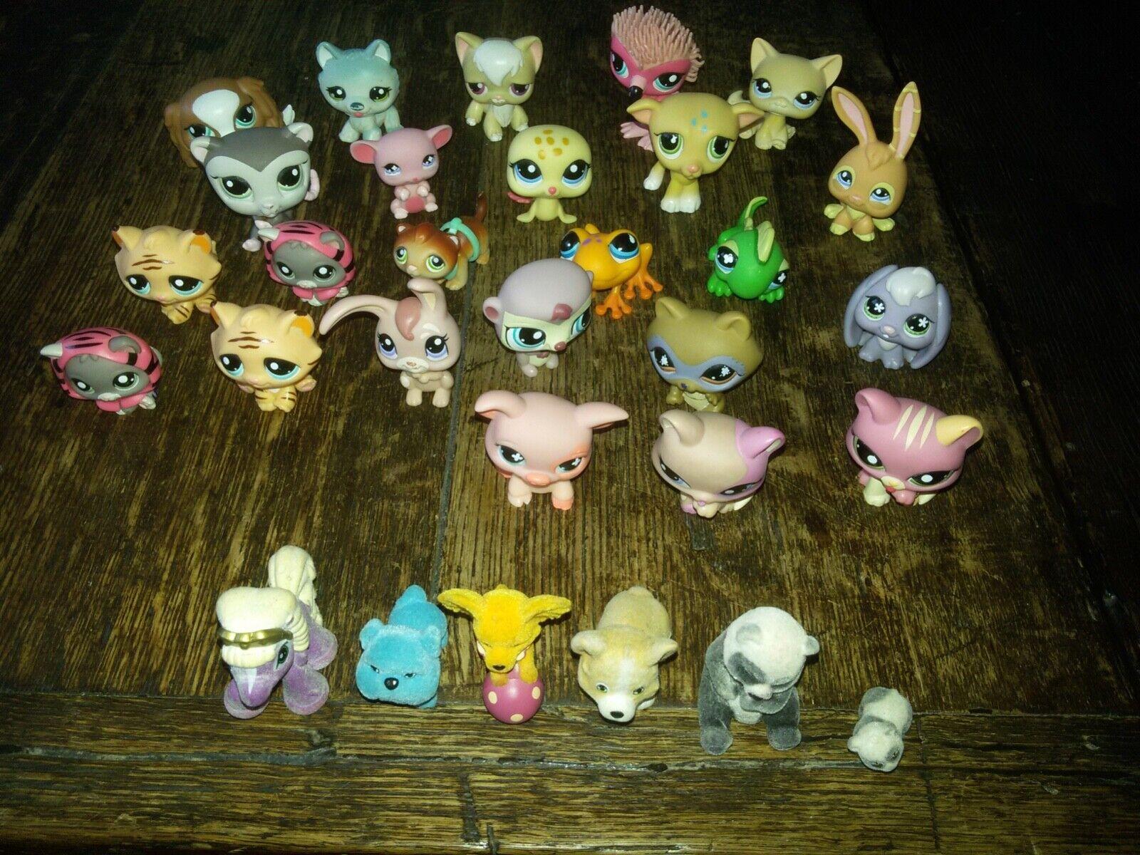 30Pcs Littlest Pet Shop LPS Lot Figure Collection Toys