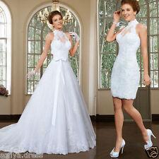 Sexy Unique White Ivory Lace Wedding Dress Vestidos De Noiva Size 2 4 6 8 10 12+